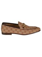Gucci Monogram Loafers - beige