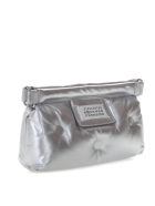 Maison Margiela Silver Red Carpet Glam Slam Bag In Quilted Leather - Silver