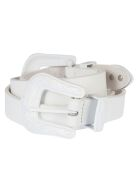 B-Low the Belt B Low The Belt Double Buckle Belt - Total White