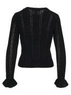 Philosophy di Lorenzo Serafini Philosophy Ruffled Detail Knit Sweater - BLACK