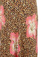 RIXO Kelly Skirt - Camel coral
