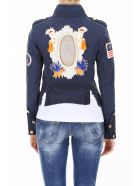 Mr & Mrs Italy Jacket With Patches And Embroidery - SALINE BLUE FRANCE (Blue)