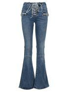 Ben Taverniti Unravel Project Unravel Lace-up Flared Jeans - BLUE