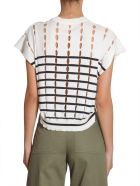 T by Alexander Wang Cotton Pullover With Slits - BEIGE