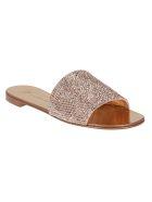 Giuseppe Zanotti Strass Flat Sandals - Rosa