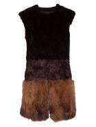 Bully Fur Applique Vest - NERO