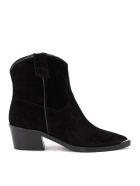 Via Roma 15 Texan Via Roma 15 Ankle Boot In Black Suede - NERO