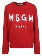 MSGM Classic Logo Print Sweatshirt - red
