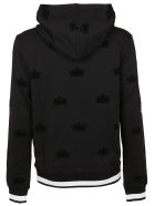 Dolce & Gabbana Embroidered Crown Hoodie - Black