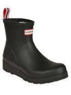 Hunter Logo Ankle Boots - Black