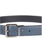 Michael Kors Debossed Logo Belt - indigo