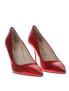 Marc Ellis Laminate Red Leather Pumps - Red