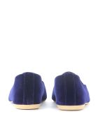 GIA COUTURE Nikko Brown And Blue Velvet Flats - Blue