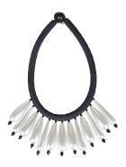 Maria Calderara Teardrop Necklace - Pearl/Black