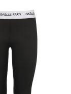 Gaelle Bonheur Waistband Logo Stirrup Leggings - Nero bianco