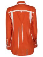 Paul Smith Orange Silk Shirt - Orange
