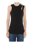 Balmain 3 Buttons Asymmetric Top - Black