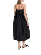 Simone Rocha A-line Dress In Brocade Fabric - Nero