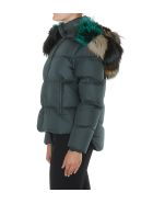 Mr & Mrs Italy Airbone Down Jacket - Forest/forest/multicolor green