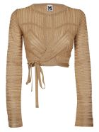 M Missoni Sparkly Knit Bolero Cardigan - Gold