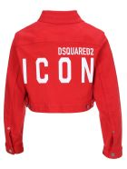 Dsquared2 D Squared Cropped Denim Jacket - RED