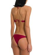 Oseree Travaille Bikini With Lace Details - Rosso