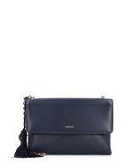 Lanvin Sugar Leather Shoulder Bag - blue