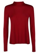 RED Valentino Collar Lacing Sweater - bordeaux