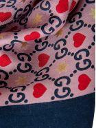 Gucci Big Dimmhert Scarf - Pink/blue