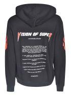 Vision of Super Sleeve & Back Print Hoodie - Black