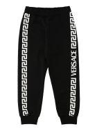 Young Versace Printed Sweatpants - black