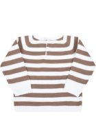 Little Bear Multicolor Sweater For Baby Boy - White