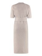 Agnona Ribbed Knit Dress - turtledove