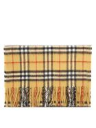 Burberry Yellow Cashmere Vintage Check Scarf - Yellow