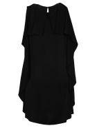 Stella McCartney Pleated Ruffles Short Dress - BLACK