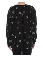 McQ Alexander McQueen Back Pleated Swallow Sweatshirt - Black
