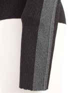 SSHEENA Sweater Turtle Neck Lurex W/side Bands - Black