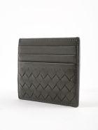 Bottega Veneta Weaved Effect Card Case - New Light Grey
