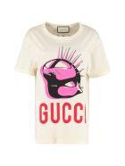 Gucci Manifesto Crew-neck Cotton T-shirt - panna