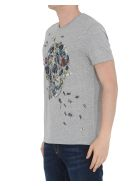 Alexander McQueen Beetle Cluster Skull T-shirt - Pale grey/mix