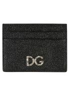 Dolce & Gabbana Embellished Logo Plaque Card Holder - black