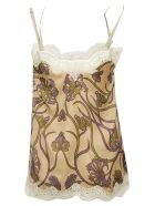 Ibrigu Printed Laced Top - Brown/Multicolor