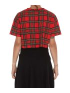 Balmain Tartan T-shirt - Mau Rouge Multi