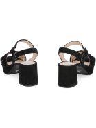 Prada Suede Heeled Sandals - black