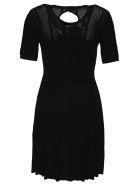 Kenzo Openwork Knit Dress - BLACK