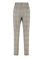 Max Mara Studio Lione Prince Of Wales Checked Trousers - grey