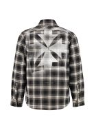 Off-White Checked Flannel Shirt - black