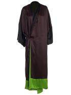 Haider Ackermann Self-tie Coat - Chocolate Black Acid