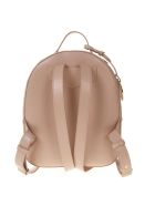 Emporio Armani Black Saffiano Faux Leather Backpack - Pink