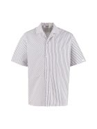 MSGM Striped Cotton Shirt - White